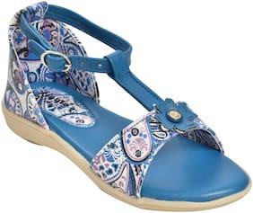 Ajanta Blue Girls Sandals