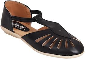 Ajanta Black Girls Sandals