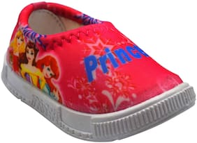 Ajanta Pink Casual Shoes For Infants