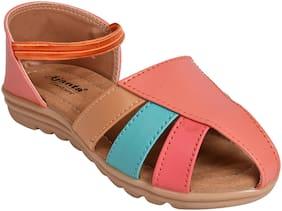 Ajanta Pink Girls Sandals