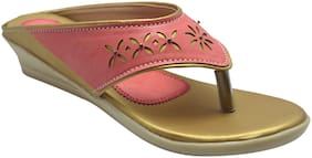 Ajanta Pink Girls Sandals