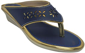 Ajanta Blue Girls Sandals
