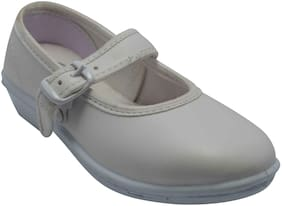 Ajanta Grey Girls School shoes