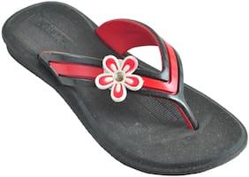 Ajanta Black Girls Slippers