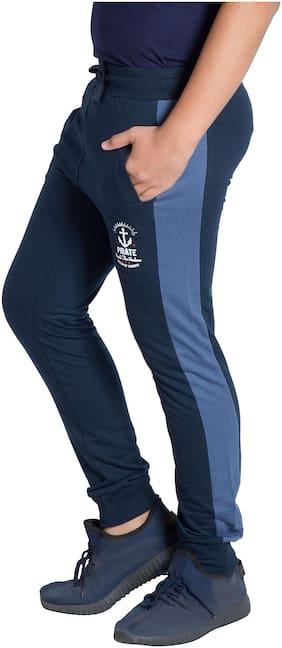 Alan Jones Clothing Boy Cotton Track pants - Blue
