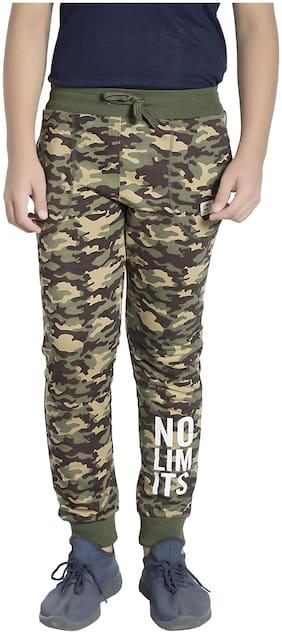 Alan Jones Clothing Boy Cotton Track pants - Green