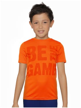 Alcis Boy Polyester T shirt - Orange
