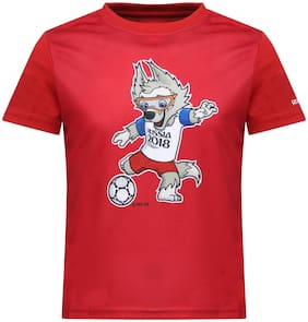 Alcis Boy Polyester Printed T-shirt - Red