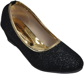Alert India Footwear Black Ballerinas For Girls