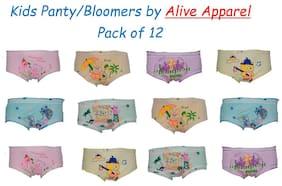 Alive Apparel Panty & bloomer for Girls - Multi , Set of 12