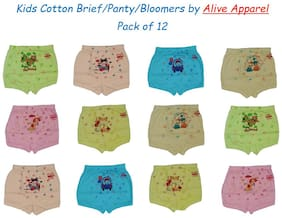 Alive Apparel Brief For Boys - Multi , Set of 12