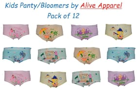 Alive Apparel Panty & bloomer For Baby girl - Multi , 12
