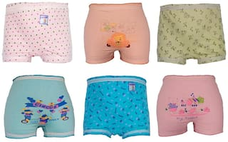 Alive Apparel Panty & bloomer for Girls - Multi , Set of 6