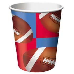 All Star Football 9 oz Beverage Drink Paper Cups 8 Per Package Party Supplies