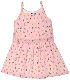 Allen Solly Pink Cotton Sleeveless Knee Length Princess Frock ( Pack of 1 )