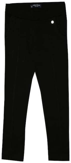 Allen Solly Girl Cotton Trousers - Black