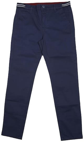 Allen Solly Boy Solid Trousers - Blue