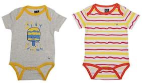 Allen Solly Baby boy Cotton Striped Body suit - Multi