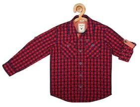 Allen Solly Boy Blended Checked Shirt Multi