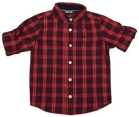 Allen Solly Boy Cotton Checked Shirt Red