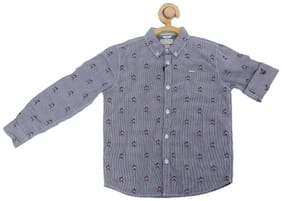 Allen Solly Boy Blended Solid Shirt Blue