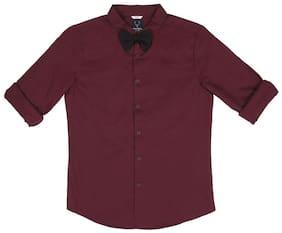 Allen Solly Maroon Shirt