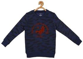 Allen Solly Boy Blended Printed Sweatshirt - Blue