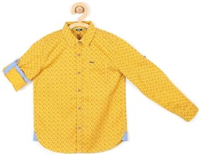 Allen Solly Boy Blended Printed Shirt Yellow