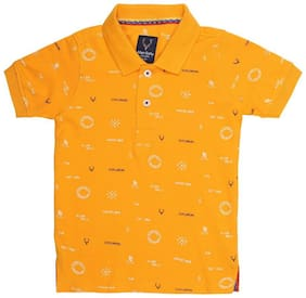 Allen Solly Boy Cotton Printed T-shirt - Yellow