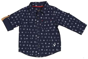 Allen Solly Cotton Printed Shirt for Baby Boy - Blue