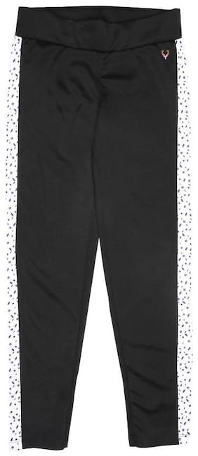Allen Solly Polyester Printed Leggings - Black