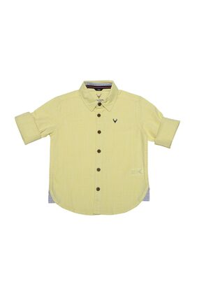 Allen Solly Boy Cotton Solid Shirt Yellow