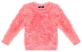 Allen Solly Girl Nylon Solid Sweater - Pink