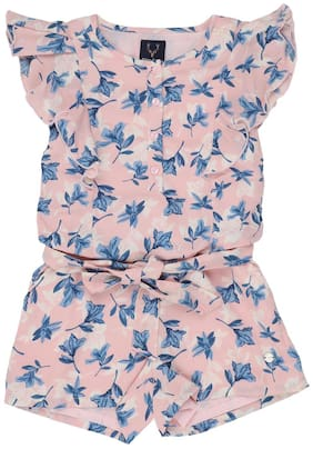 Allen Solly Pink Jumpsuit For Girls