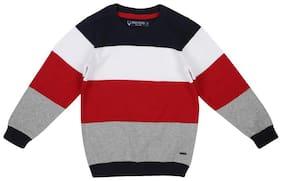 Allen Solly Boy Cotton Striped Sweater - Multi
