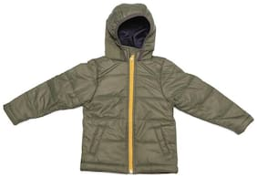 Allen Solly Boy Polyester Solid Winter jacket - Green