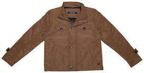 Allen Solly Boy Polyester Solid Winter jacket - Brown
