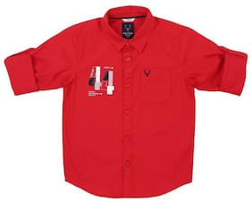 Allen Solly Boy Cotton Solid Shirt Red