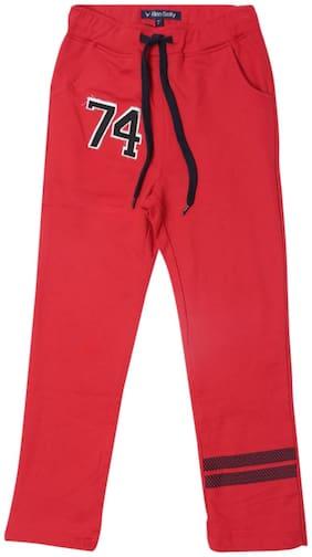 Allen Solly Boy Blended Track pants - Red