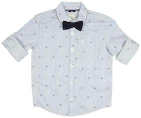 Allen Solly Boy Cotton Solid Shirt Grey