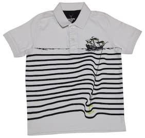 Allen Solly Boy Cotton Printed T-shirt - White