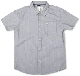 Allen Solly Boy Cotton Solid Shirt Grey