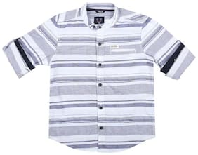 Allen Solly Boy Cotton Striped Shirt White