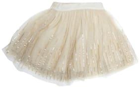 Allen Solly Girl Blended Solid Flared skirt - Beige