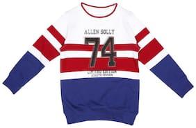 Allen Solly Boy Cotton Striped Sweatshirt - Multi