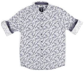 Allen Solly Boy Cotton Printed Shirt Blue