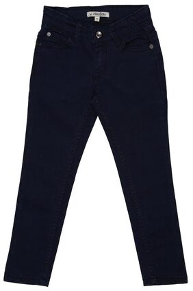 Allen Solly Girl Solid Jeans - Blue