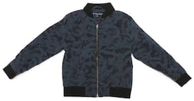 Allen Solly Boy Polyester Printed Winter jacket - Grey