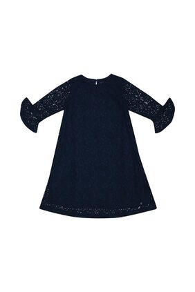 Allen Solly Girl Cotton Solid Frock - Blue