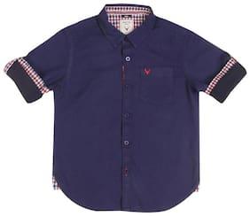 Allen Solly Boy Cotton Solid Shirt Blue